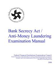 ffiec AML manual cover